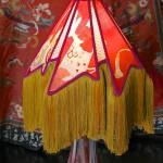 portfolio tablelamp aztec shade