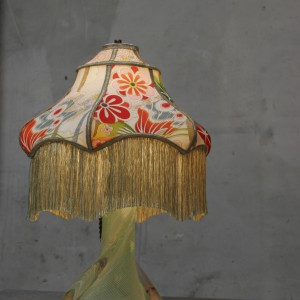 Murano glass table lamp with shinto shade