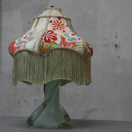 murano lamp with silk shade – versie 4